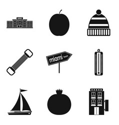Judiciousness icons set simple style vector