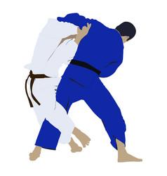 Judo wrestling fight vector
