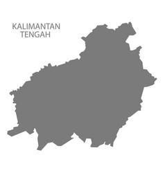 kalimantan tengah indonesia map grey vector image