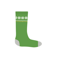 knitted sock for christmas gifts isolated on white vector image