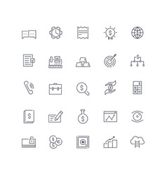 line icons set e-commerce pack batch vector image