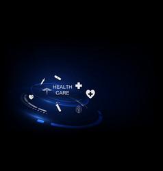 Medical technology innovation concept background vector