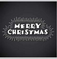 Merry christmas poster design vector