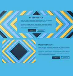modern design web blue on vector image