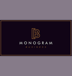 monogram b line logo simple and sophisticated vector image