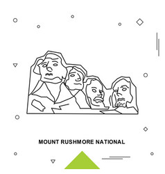 Mount rushmore national vector