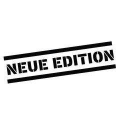 New edition stamp in german vector