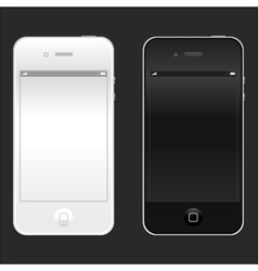 New realistic black and white mobile phone vector image