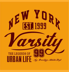 New york varsity vector