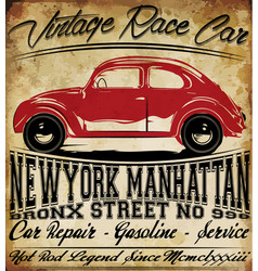 Old car vintage classic retro man t shirt graphic vector