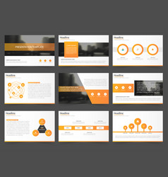 orange abstract presentation templates infographic vector image