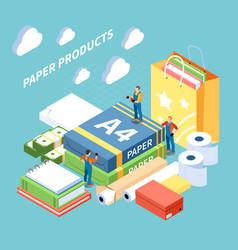 Paper production concept vector