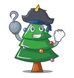 Pirate christmas tree character cartoon vector