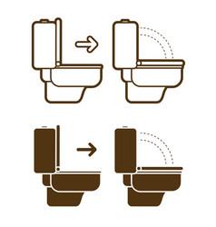 put down toilet seat icon cartoon graphic vector image