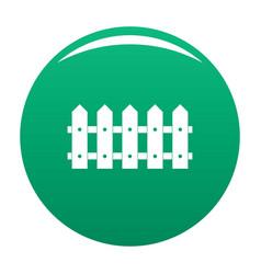 Rare fence icon green vector