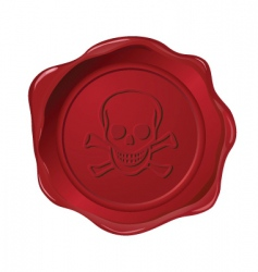 red seal on white vector image