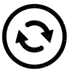 Refresh Arrows Icon Rubber Stamp vector