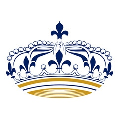 retro king crown vector image vector image