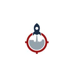 rocket target logo icon design vector image