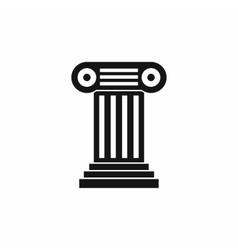 Roman column icon simple style vector image