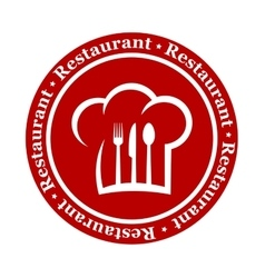Round restaurant icon vector