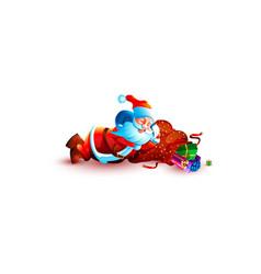 Santa claus sleeping slumber tired vector