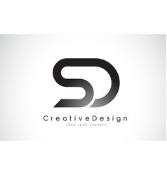 Sd s d letter logo design creative icon modern vector