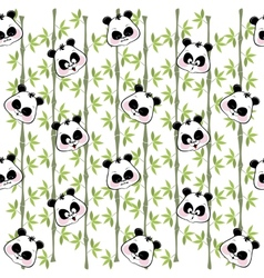 Seamless background from the muzzles of the Panda vector