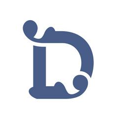 sign letter d vector image
