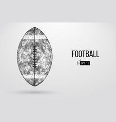 Silhouette of a football ball vector