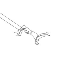 Single continuous line drawing a male acrobat vector