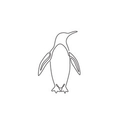single continuous line drawing adorable vector image