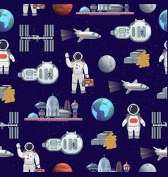 space tourism future travel city vector image