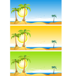 Summer tropical beach set vector