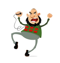 terrorist with suicide belt vector image