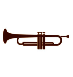 trumpet brass instrument used in classical vector image