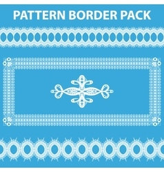White Pattern Border Pack vector image