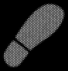 white pixel boot footprint icon vector image