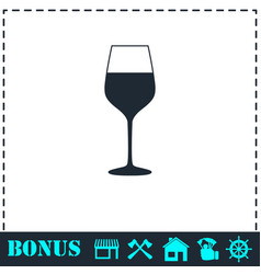 wineglass icon flat vector image
