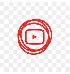 youtube social media icon design template vector image