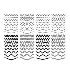 zigzag wave lines geometric zig zag pattern vector image