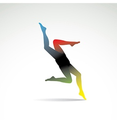 Abstract women legs vector image