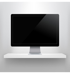 Shelf With Computer vector image vector image