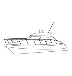 speedboat flat icon and sign vector image vector image