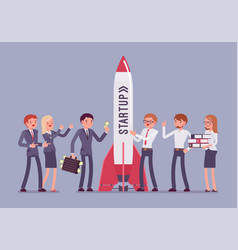 successful startup rocket vector image vector image
