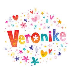 Veronike girls name vector
