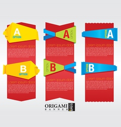 Vertical origami banner EPS 10 vector image vector image