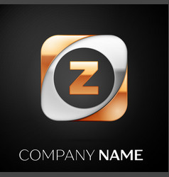 Letter z logo symbol in the colorful square on vector