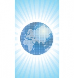 map of world vector image vector image