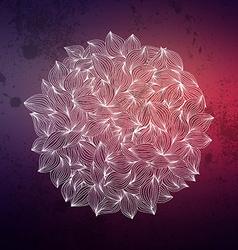 Abstract wavy hand-drawn object Circle background vector image